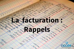 La facturation : Rappels